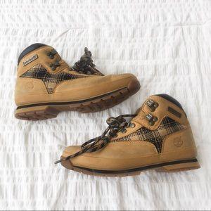 Timeberland Euro Hiker Leather Boots Wheat Nubuck